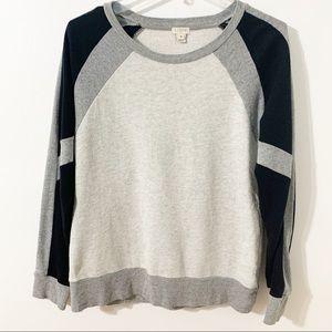 J. Crew Color Block Crewneck Cotton Sweatshirt